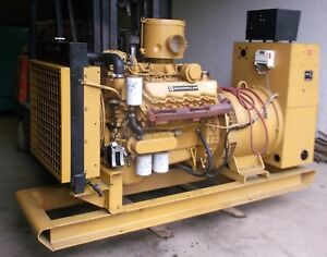 Cat 175 Kw 3208 Diesel Generator Set W 290 Hours