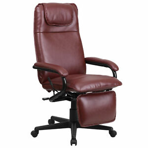 Flash Furniture Burgundy Leather Executive Swivel Office Chair Bt 70172 bg gg