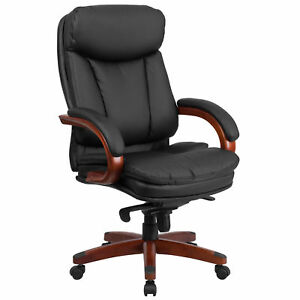 Flash Furniture Black Leather Executive Swivel Office Chair Bt 90171h s gg