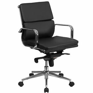Flash Furniture Black Leather Executive Swivel Office Chair Bt 9895m bk gg