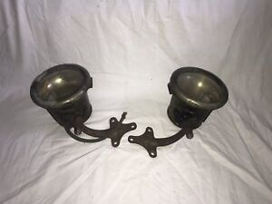1910 1911 1912 1913 Cadillac Cowl Side Lights Gray Davis Brass Car Lamps Orig