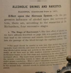 1888 Book Hygienic Physiology Steele Phd Alcohalic Drinks Narcotics Cocaine