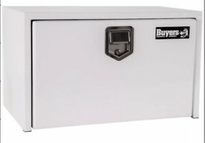 Buyers White Steel Underbody Truck Box With Paddle Latch 18 x18 x24 1702200