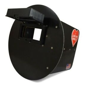 Returned Wendy s Pancake Welding Hood Helmet Right Handed Black Flip Up Lens