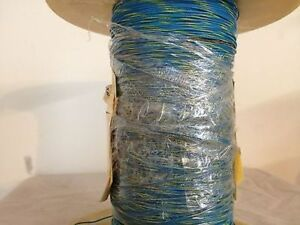 High Temperature Teflon Wire Gauge 26 19strands Type E Blue yellow 1000ft