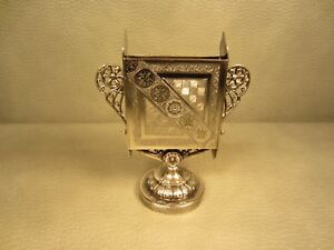 Antique James Tufts Silverplated Playing Cards Or Business Card Holder