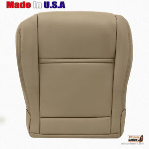 For 1990 To 1997 Toyota Land Cruiser Front Driver Bottom Leather Seat Cover Tan