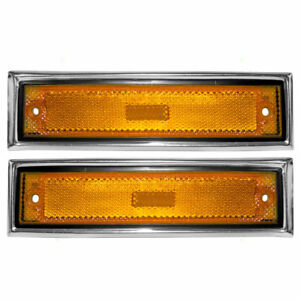 New Front Side Marker Lights Set For 81 91 Chevrolet C10 C20 C30 Gmc C1500 C2500