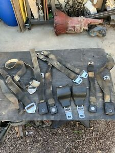 1970 1969 71 72 Mustang Mach 1 Boss Cougar Seat Belts Complete Set Fastback