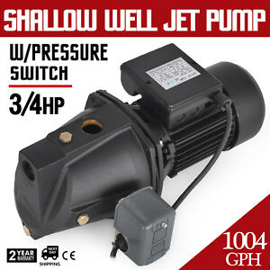3 4 Hp Shallow Well Jet Pump W Pressure Switch Agricultural Self priming 56 M
