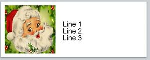 30 Personalized Address Labels Christmas Santa Claus Buy 3 Get 1 Free ac 27