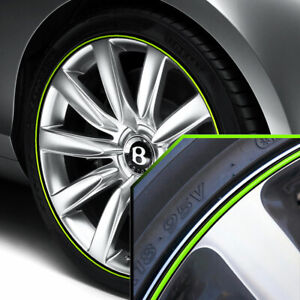 Wheel Bands Neon Green Black Pinstripe Trim For Bentley Continental Full Kit