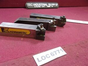 Lot Of 3 Kennametal 1 1 4 Shank Nsl 204d Indexable Turning Tool Loc6771