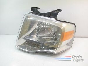 2007 2014 Ford Expedition Halogen Headlight Oem Lh Driver Pre Owned