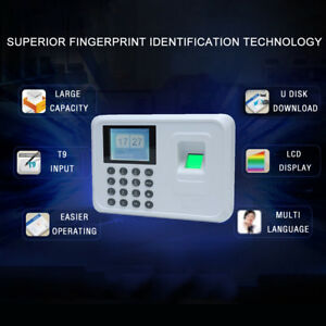 2 4 intelligent Biometric Fingerprint Attendance Recorder Office Check in Q6x0