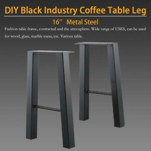 Set Of 2 16 Industry Coffee Table Legs Chair Bench Metal Steel 1 Pair Strong