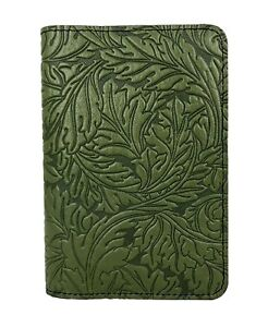 Acanthus Leaf Oberon Design Custom Fern Leather Pocket Moleskine notebook Cover