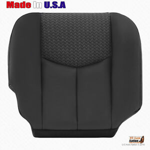 2003 2004 Chevy Avalanche Passenger Bottom Leather Cloth Seat Cover Dark Gray