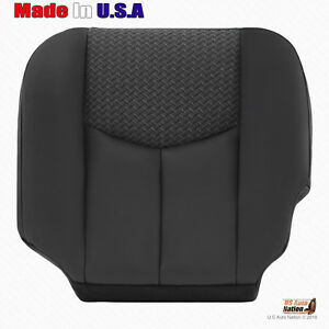 2003 2004 Chevy Avalanche Driver Side Bottom Leather cloth Seat Cover Dark Gray