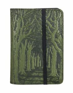 Avenue Trees Oberon Design Custom Fern Leather Pocket Notebook Moleskine Cover
