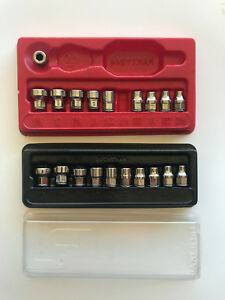 Snap on Tools 1 4 Low Profile Sae Metric Socket Sets With Magnetic Bit Socket