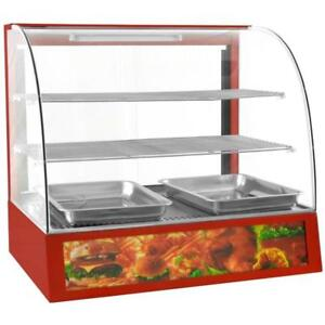 Commercial Countertop Display Curved Glass Food Warmer 27