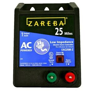 Zareba Eac25mz 25 Miles Ac Low Impedance Electric Fence Charger Powers Up To 25