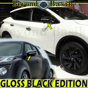 For 2015 2019 Nissan Murano 2015 2017 Juke Gloss Black Mirror Covers W tsgl Hole