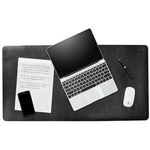 Desk Blotter Pad Mat 34 X 17 Deluxe Leather Pad Black Protector Cover And Pad