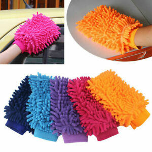 Car Cleaning Sponge Car Washing Glove Washing Glove Microfiber Hand Towel Cloth