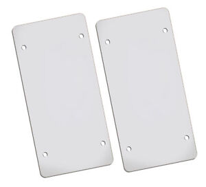 Flat Clear License Plate Cover 2 Pack Of Heavy Duty Shields Ubreakable