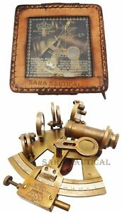 Halloween Kelvin Hughes Solid Brass Astrolabe Sextant Maritime Working Sextant