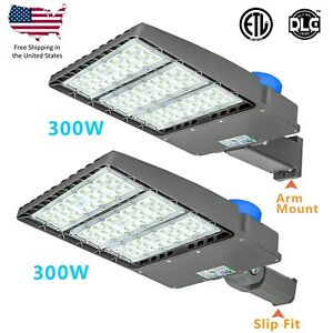150w 300w Led Parking Lot Light With Photocell Module Street Pole Light Fixtures