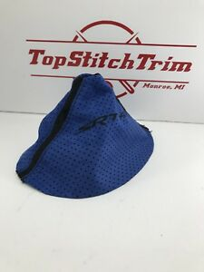 Fits 2003 05 Dodge Neon Srt4 Blue Perforated And Black Suede Shift Boot Srt 4