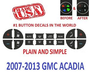 2007 2013 Ac Buttons 2007 2013 Gmc Acadia Slt Dash Repair Decals Climate Control