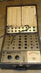 B k Dyna Quik 500 Vintage Radio Audio Gm Tube Tester With 510 Panel Tube Data