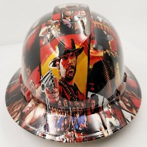 Full Brim Hard Hat Custom Hydro Dipped New Red Dead Redemption 2 Osha Aprvd