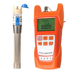 1set Optical Fiber Power Meter Tester 1mw Visual Fault Locator Tools
