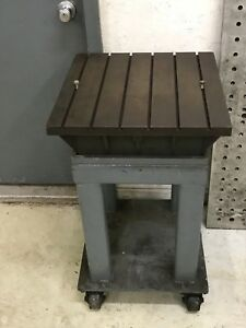 Cast Iron Surface Plate With Stand 18 X 18 X 6