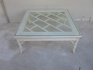 Vintage 70 S Palm Beach Kelly Wearstler Style Chinese Chippendale Coffee Table