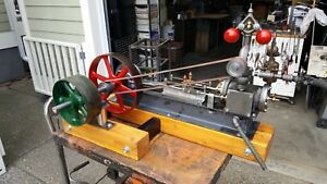Live Steam Engine With Flyball Governor Mill Gauge Boiler Whistle Lubricator