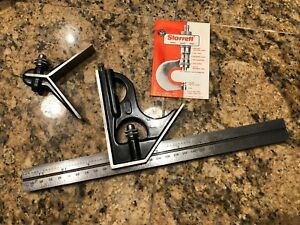Starrett 33mehc 300 300 And 11 3 4 Combination Square With Square Head With Box