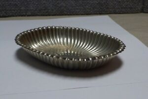 Gorham Sterling Silver Leamington 60 Ribbed Oval Candy Dish No Mono 2 8 Toz