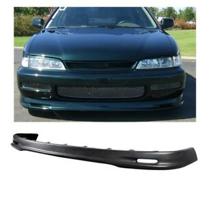 For 96 97 Honda Accord Mu Gen Style Front Bumper Lip Spoiler Pp Black Ship Fast
