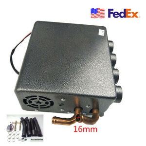 12v Universal Truck Underdash Compact Heater Pure Copper Tube Speed Switch Usa