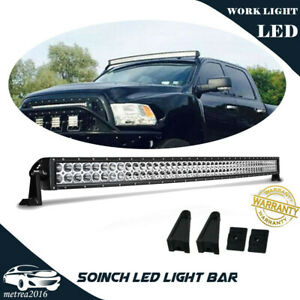 50inch 288w Curved Led Work Light Bar Combo Offroad Truck For 4wd 52 48