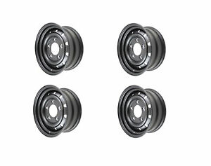 Terrafirma Set Of 4 Steel Wolf Style Wheels For Land Rover Tubeless 16x6 5