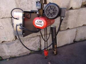 Cm Lodestar 1 2 Ton Electric Chain Hoist With Power Trolley Works Great 3