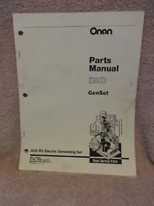 Onan Dkd Genset Rv Generator Parts Manual Oem