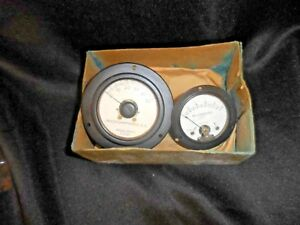 Lot Of 2 Western Electric Gauges Microamperes Dc Milliamperes Dc Weston Nos